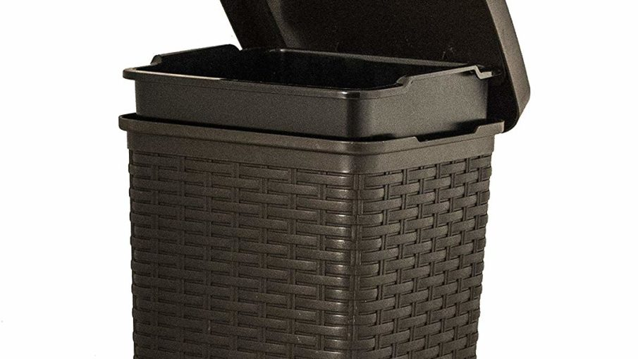 best small wicker trash can with lid review